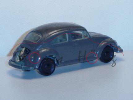 VW 1200, braun, Fac, Heckklappe weg, Modell nachlackiert (Farbe nicht original)