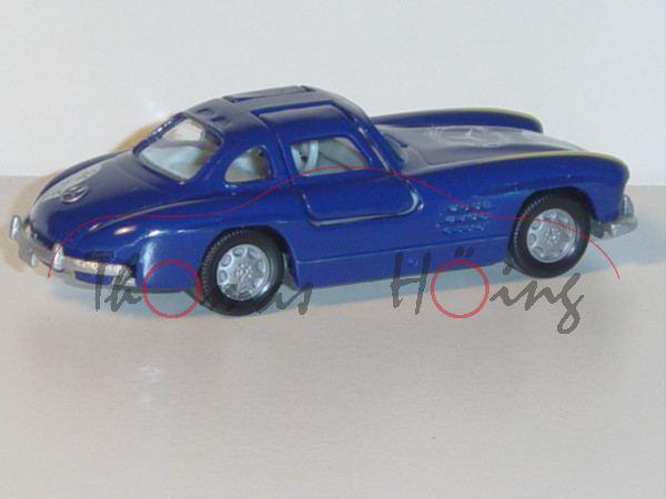 Mercedes-Benz 300 SL (Baureihe W 198), Modell 1954-1957, saphirblau, innen grau, Lenkrad grau, 94 /