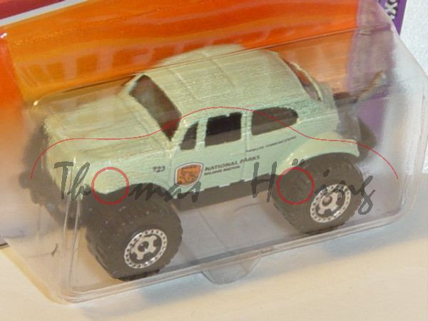 VW Beetle 4x4, weißgrün, NATIONAL PARKS / MOJAVE SECTOR, Matchbox, 1:57, Blister