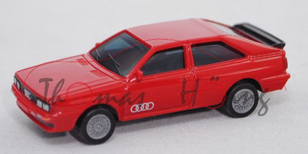 Audi Quattro (B2, Typ 85Q, Modell 80-82), rot, BOSS, 1:87, Blister (Limited Edition Audi Collection)