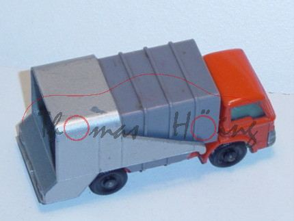Ford Refuse Truck, blutorange/dunkel-staubgrau/silbergraumetallic, Aufbau kippbar, Heckklappe zu öff