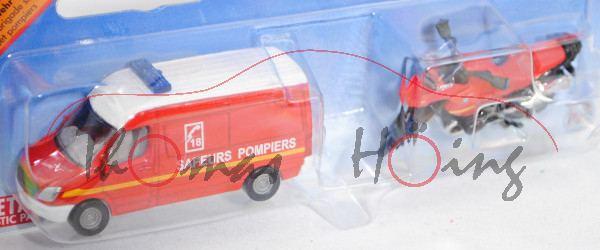00102 F Feuerwehr Set: MB Sprinter II (Mod. 06-13)+BMW R1200 GS (Mod. 04-12), SAPEURS POMPIERS, P29e