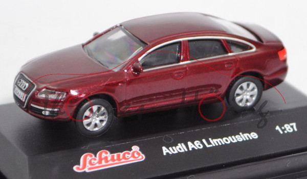 Audi A6 3.0 TDI quattro (C6, Typ 4F, Vorfacelift, Modell 04-06), dunkelrotmetallic, Schuco, 1:87, mb