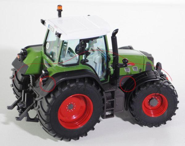 Fendt 718 Vario Traktor (Modell 2006-2011), hell-grasgrün/hell-umbragrau/mattschwarz, D-Nummernschil
