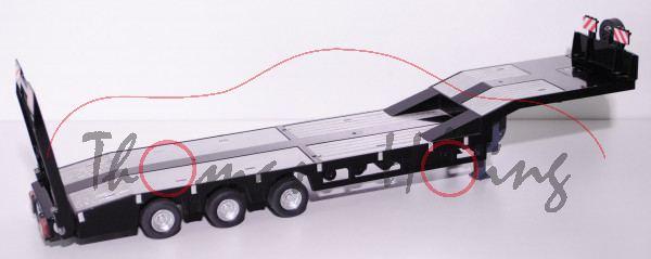 Mechanischer 3-Achs-Tieflader, schwarz, L16nmK (funktioniert nur mit Art.-Nr. 2887 Dolly)