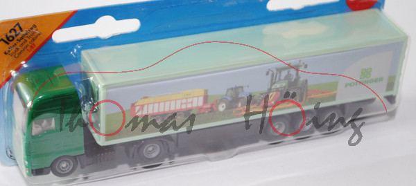 MAN TGA Koffer-Sattelzug, minzgrün/schwarz, Auflieger weißgrün, PÖTTINGER, 1:87, P28