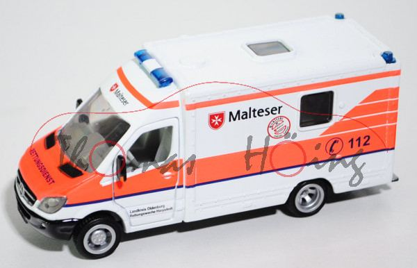 00402 RTW MB Sprinter II (Modell 2006-2009), weiß, Landkreis Oldenburg / Harpstedt / Malteser, L17mK