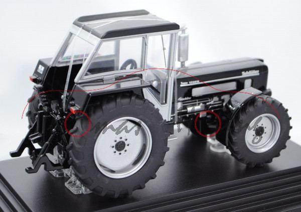 Schlüter Super 1250 VL, Modell 1972-1985, schwarz/silber, blackline design by siku, L17mPC Werbescha