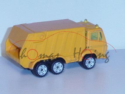 Mercedes-Benz SK (S-Fahrerhaus, Modell 1989-1994) Müllwagen, hell-gelborange, innen reinweiß, Lenkra