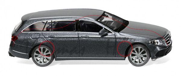Mercedes-Benz E-Klasse T-Modell Avantgarde (BR S 213, Mod. 16-), selentigrau-met., Wiking, 1:87, mb