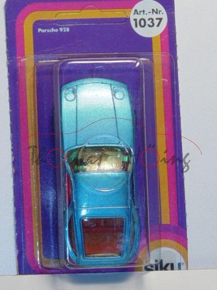 Porsche 928, Modell 1977-1982, lichtblaumetallic, Verglasung gelb, B4, P17 (Farbe)