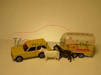 Range Rover mit Pferdeanhänger, beige, KOSTAL, m-