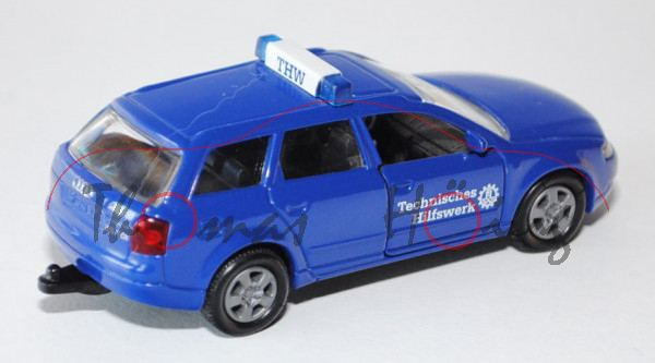 00405 Audi A4 Avant 2.5 TDI quattro (B6, Typ 8E, Mod. 01-04), ultramarinblau, Technisches Hilfswerk