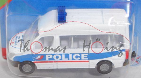 00100 F Mercedes-Benz Sprinter II (NCV 3, W 906, Mod. 2006-2013) Bus Police Van, weiß, POLICE, P29e