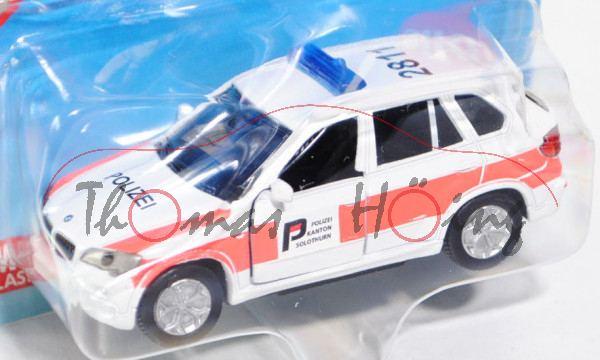 03900 BMW X5 4.8i (Typ E70, Mod. 06-10), Notarzt-Geländewagen, weiß/leuchthellrot, POLIZEI SOLOTHURN