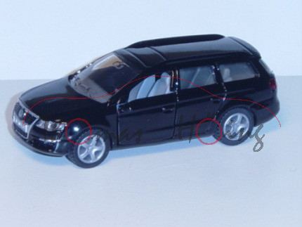 03900 VW Passat Variant 2.0 FSI (B6, Typ 3C), Modell 2005-2010, (vgl. 1307) schwarz, innen grau (Mod