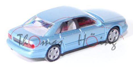 Audi A8 (D2, Typ 4D), Modell 1994-2002, hell-blausilbermetallic, Rietze, 1:87, mb