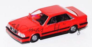 Audi V8 (D11, Typ 4C), Modell 1988-1994, verkehrsrot, kleine Felgen, Rietze, 1:87, mb