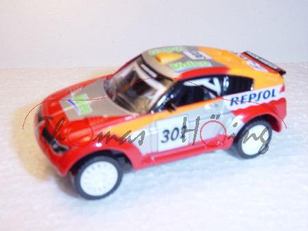 Mitsubishi Pajero Evolution, rot/silber/orange, REPSOL, Nr. 302, Norev Racing, 1:50, mb
