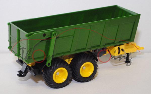 Tandem-Achs-Anhänger mit Akku, smaragdgrün/gverkehrselb, JOHN DEERE Sondermodell Agritechnica 2005,