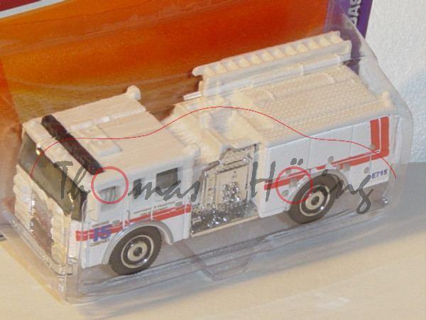 Pierce® Dash Fire Brigade Feuerwehr, reinweiß, ENGINE / 15 / COMPANY / FIRE DEPARTMENT, Matchbox, 1:
