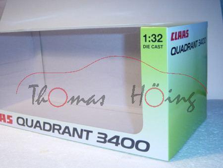 Claas Quadrant 3400 Roto Cut, claasgrün/weiß, Werbeschachtel