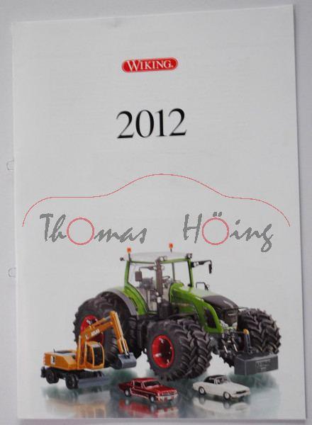 Wiking Katalog 2012 DIN A4, 24 Seiten, Wiking