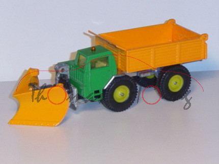 Faun Schneeräumfahrzeug, minzgrün/orange, ohne Zubehör und Fahnen