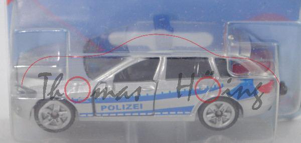 00004 BMW 520i Touring (Typ F11, Modell 2013-) Streifenwagen, silber, POLIZEI, HL rot bedruckt, P29e
