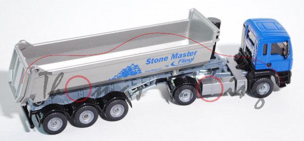 00003 MAN TGA 18.460 M Halfepipe-Sattelkipper, Modell 2000-2007, ultramarinblau/silber, Stone Master