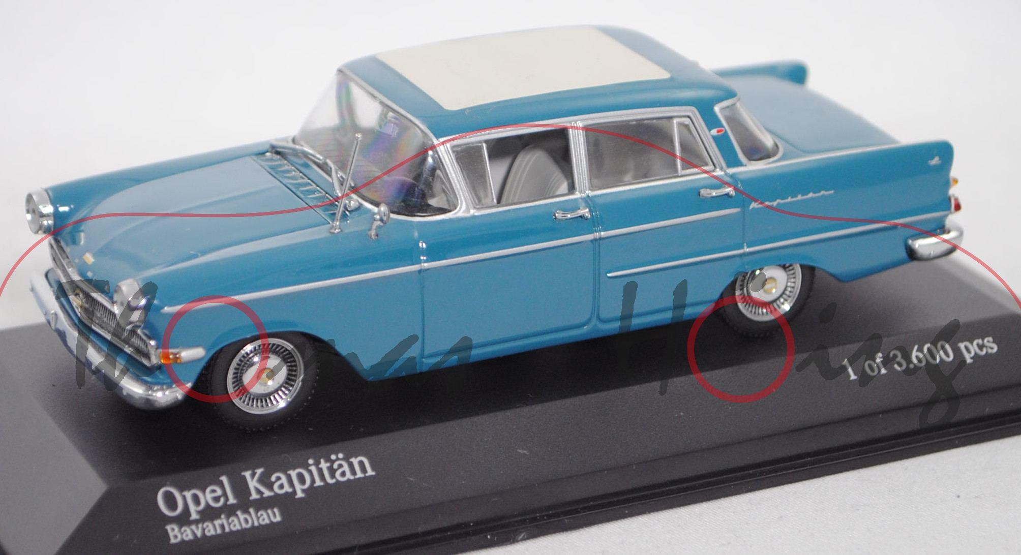 Opel Kapitan P 2 6 L Typ 4 Turige Limousine Mod 1959 1963 Bavariablau Minichamps 1 43 Pc Box Produktarchiv Online Shop Automodelle Hoing