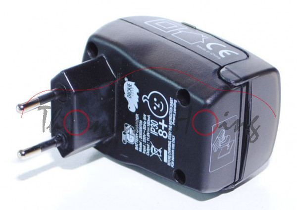 Charger 11,6 V, für RC-Fahrzeuge, Typ 209308709, PRI: 230 V ~ 50 Hz 5W, SEC: 11,6V 180mAh, DICKIE TO