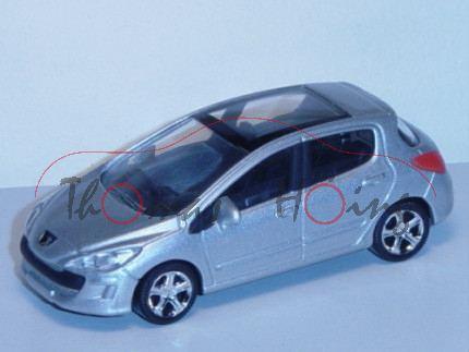 Peugeot 308, silbermetallic, 1:50, Norev SHOWROOM, mb