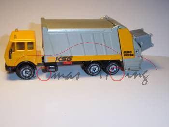 Mercedes 2232 Müllwagen, melonengelb/silbergraumetallic, KSG, LKW10, L11a (Modell nachlackiert)