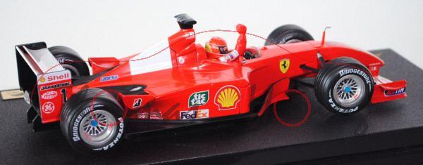 Ferrari F2001, leuchtrot/reinweiß, Team Scuderia Ferrari Marlboro (1. Platz), Fahrer: Michael Schuma