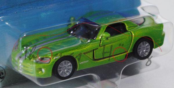 00001 Dodge Viper SRT-10 Coupé (Typ ZB, Phase II), Modell 2008-2010, gelbgrünmetallic, innen schwarz