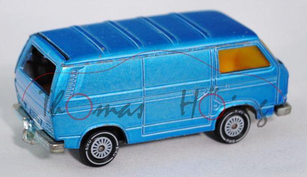 00001 VW Transporter 2,0 Liter (Typ T3, Modell 1979-1982), himmelblaumetallic, innen dahliengelb, Le