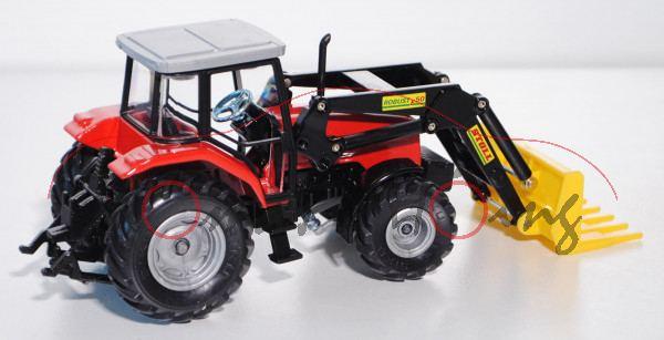 Massey Ferguson 4270 Traktor (Modell 1997-2001) mit STOLL ROBUST F 50 Frontlader und Dunggabel, verk