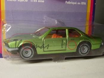 00001 BMW 633 CSi (Typ E24), Modell 1975-1979, gelbgrünmetallic, Glas rauch, B4, P20