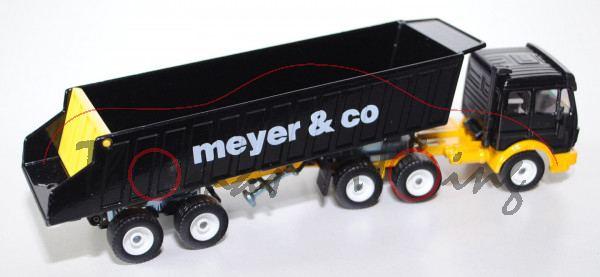 00006 Mercedes SK Sattelkipper, schwarz/signalgelb, meyer & co, LKW16, 1:55, L15