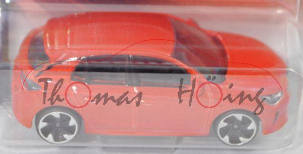 Opel Corsa-e Elegance (6. Gen., Typ Corsa F, Mod. 20-), d.-blutorangemetallic, majorette, 1:55, mb