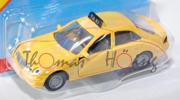 30001 Mercedes-Benz E 500 (Baureihe W 211, 1. Version, Modell 2003-2006) Taxi, signalgelb, innen mau