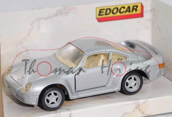 Porsche 959 (Modell 1986-1988), silber, innen hellelfenbein, EDOCAR® SUPER SERIES, 1:43, mb
