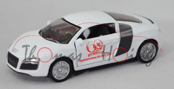 00402 Audi R8 4.2 FSI quattro Coupé (Typ 42, Mod. 2007-2010), weiß/weißalu, Spielwarenmesse 2009, mb