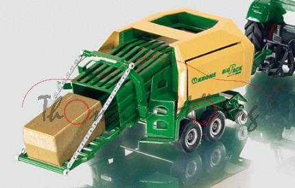 Großpackenpresse, smaragdgrün/beige, KRONE / BiG PACK / MULTI-CUT 128 VFS, L15