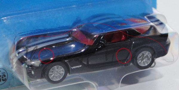 00002 Dodge Viper SRT-10 Coupé (Typ ZB, Phase II), Modell 2008-2010, schwarz, innen karminrot, Lenkr