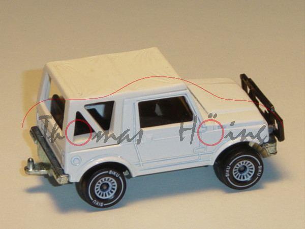00000 Suzuki SJ 413 Soft Top (Typ JA51, Modell 1984-1988), reinweiß, innen schwarz, Lenkrad schwarz,