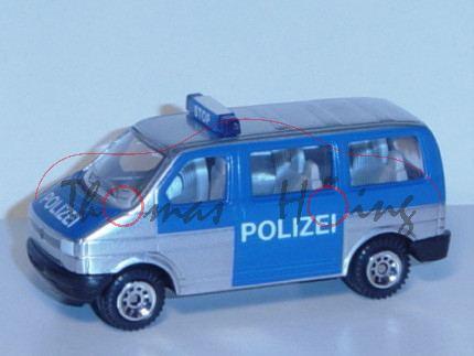 VW T4 facelift Caravelle (Modell 1996-2003) Polizei-Mannschaftswagen, weißaluminiummetallic/verkehrs