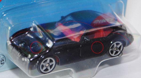 Wiesmann GT MF4, Modell 2003-2010, schwarz, innen karminrot, Lenkrad karminrot, P28