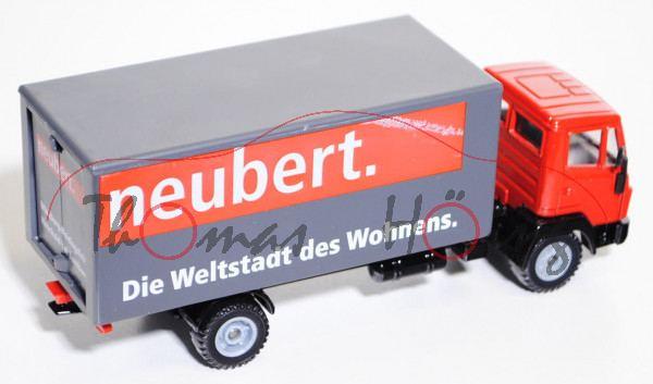 Mercedes Ln 2 Koffer Lkw Verkehrsrotschwarzschiefergrau Neubert
